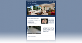 Web Design for Personal Touch Plus Cleaning