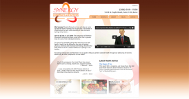 Web Design for Synergy Chiropractic and Nutrition