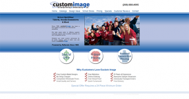 Web Design for Custom Image Screenprinting and Embroidery