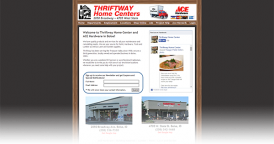 Web Design for Thriftway Home Center