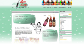 Web Design for Epic Sodas