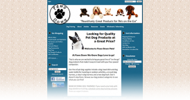 Web Design for Paws Down Pets