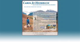 Web Design for Author Carol Jo Heimbuch