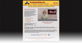 Web Design for Acclaimed Video Inc