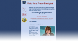 Web Design for Idaho State Prayer Breakfast