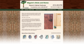 Web Design for Maguires Sticks And Stones