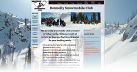 Web Design for Donnelly Snowmobile Club