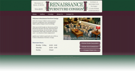 Web Design for Renaissance Furniture Consign