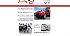 Website Design for Finishing Touch Detail