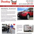 Web Design for Finishing Touch Detail Website