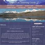 Web Design for Idaho: A Climbing Guide Website