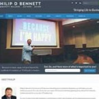 Web Design for Philip D Bennett Website