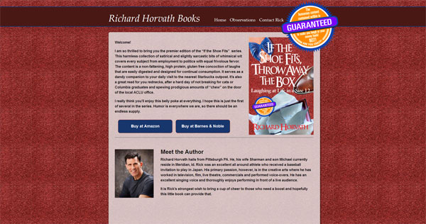 Author Richard Horvath - If The Shoe Fits, Throw Away the Box