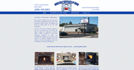 Web Design for Wholesale Fireplaces of Idaho