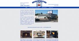 Web Design for Wholesale Fireplaces of Idaho